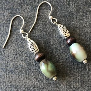 Jewelry - SunDrop Earrings Eye Catching Green Artisan X